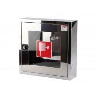 Cutie hidrant Minibox INOX cu geam, suport simplu pentru furtun si yala – ( 500x500x140 ) – IMPORT